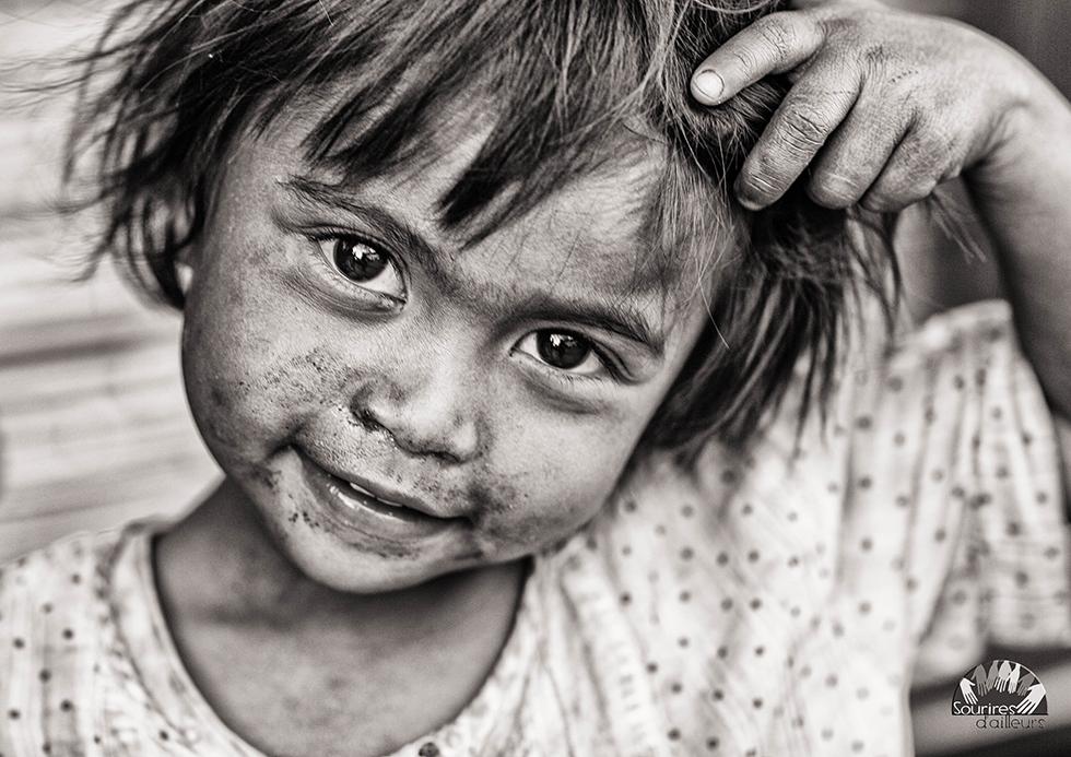Focus sur le visage d'une enfant