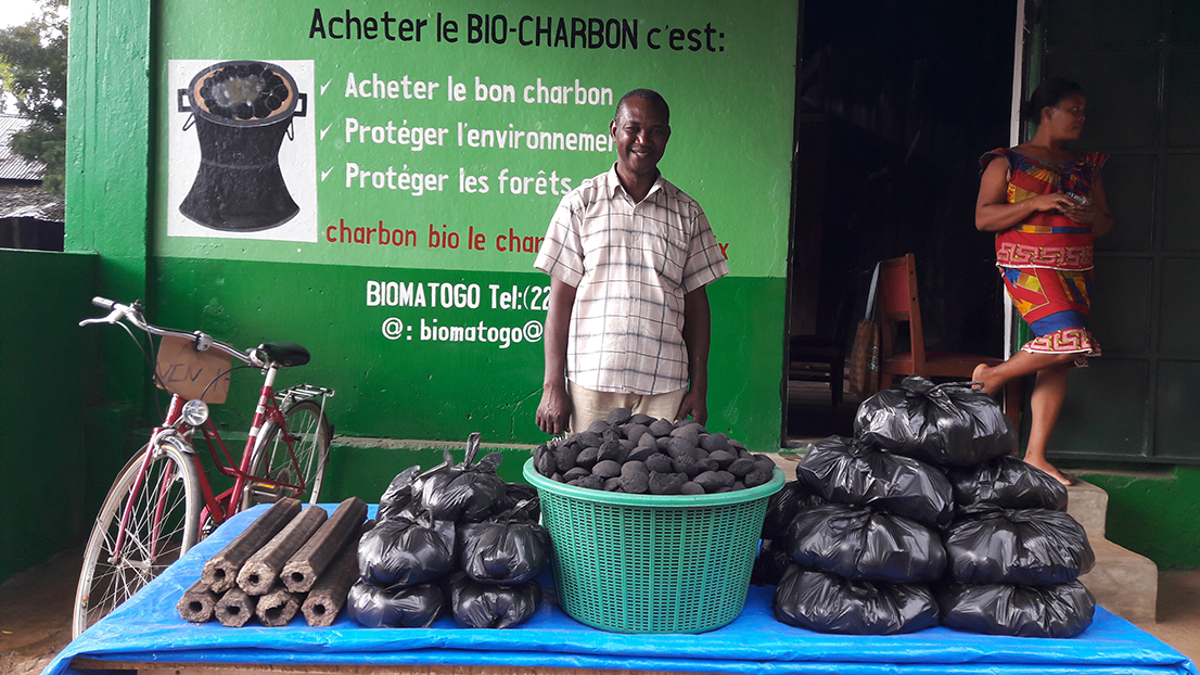 La boutique de bio-charbon est disponible