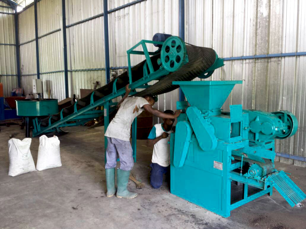 Une des machines servant à la production